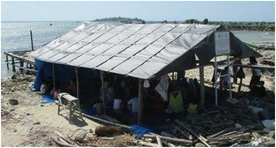 Gambar 5. Pondok pembibitan rumput laut KP3RL